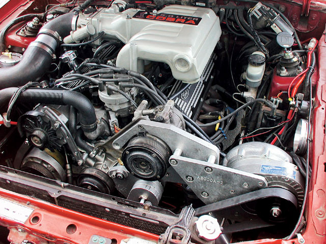 Ford Supercharger Full Engine Bay View