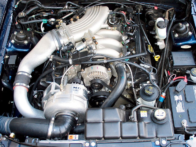 Ford Supercharger Full Engine View