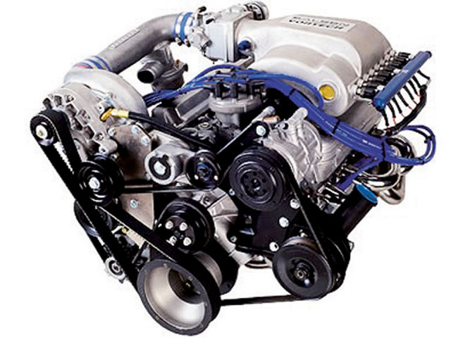 Ford Supercharger Engine View
