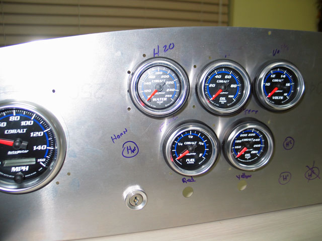 Factory Five Roadster Gauges And Dash Install Angled Gauges