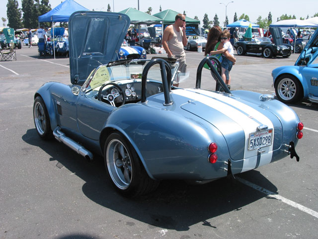 American Handcrafted Auto Show Light Blue Metallic Cobra