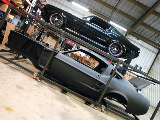 Dynacorn 1967 Ford Mustang Fasback Body On The Lift