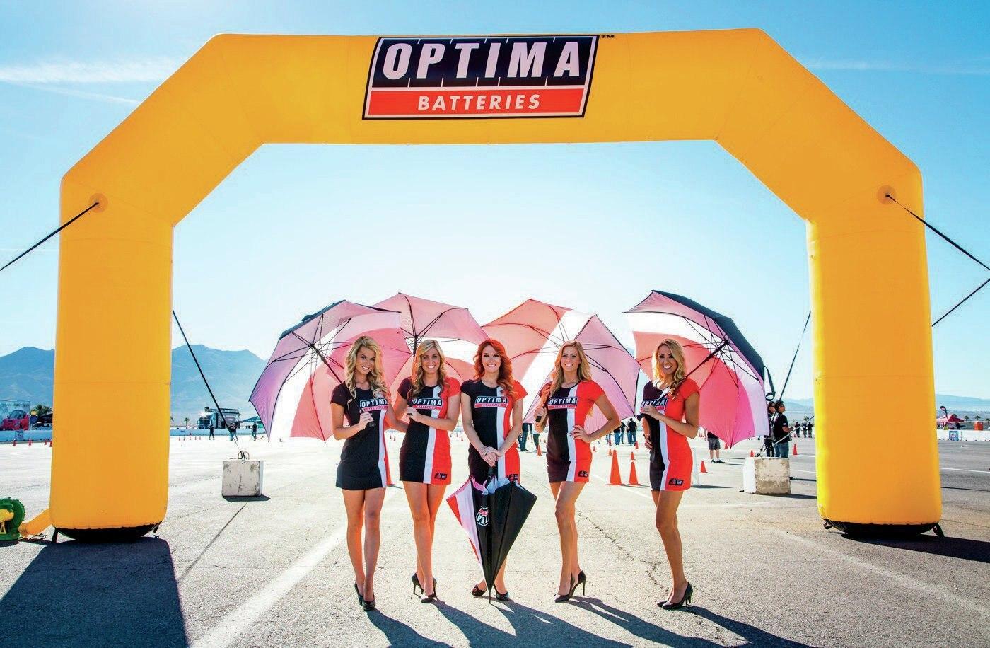 Optima Shootout Umbrella Girls