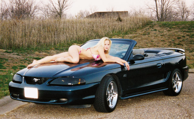 138 0205 Z May Babe Alyssa Gibson 1994 Ford Mustang GT