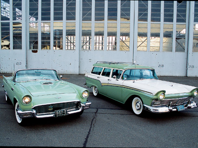 1957 Ford Thunderbird And Country Sedan Wagon Hangar