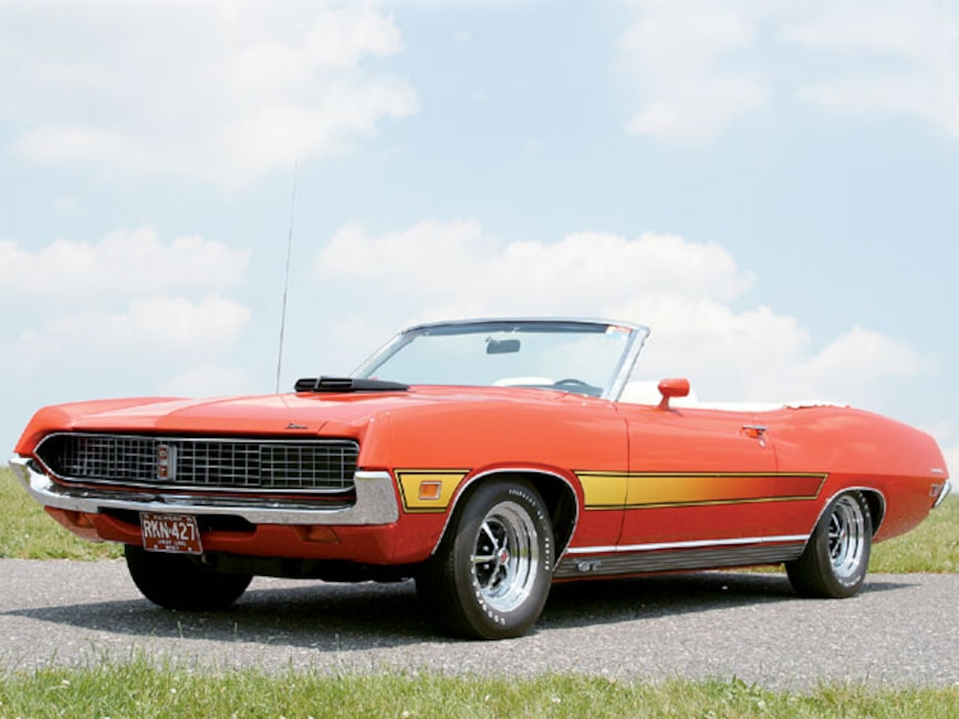 This 71 Torino Gt Convertible Belongs To Mark And Dawn Brandli Of Delton Michigan It Was Purchased As The Result A Midlife Crisis That Began When