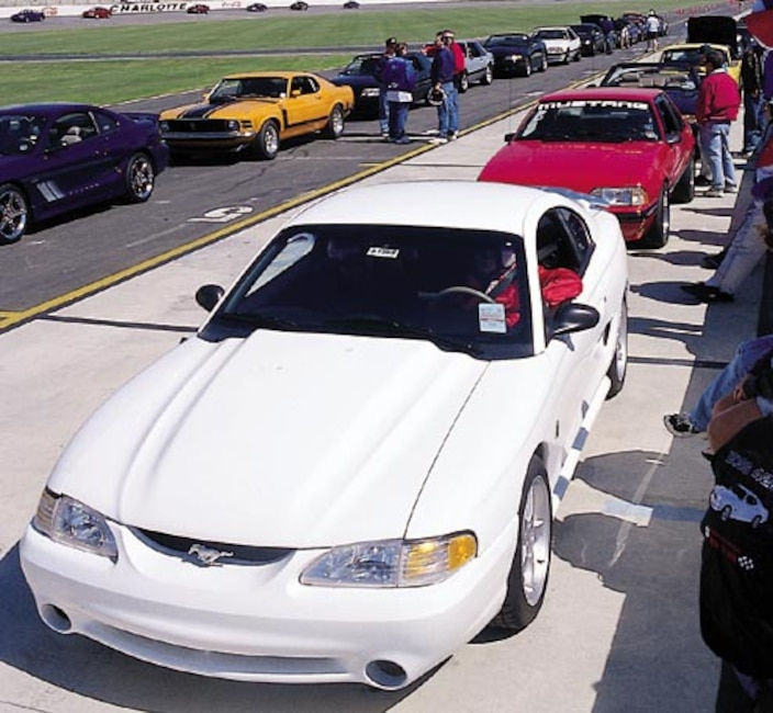 P94269_large Ford_Mustangs Pit_Lane_Line_Up