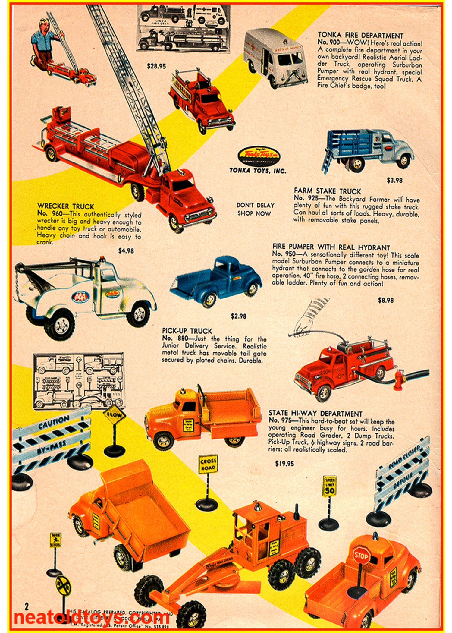 008 Ford F 750 Tonka Poster 1956
