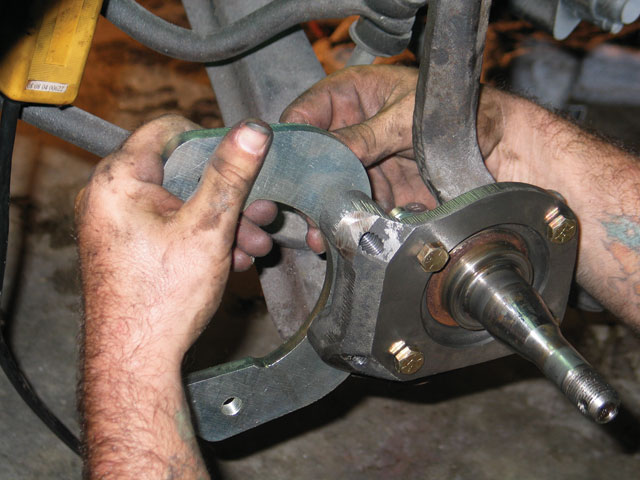 1968 Ford Mustang Disc Brakes Installing The Caliper Bracket
