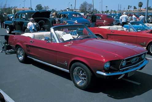 1967 Ford Mustang Convertible Front Side Parked