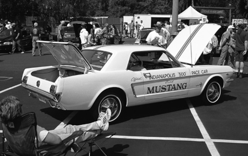 P115119_large 1965_Ford_Mustang_Pace_Car Rear_Side_Parked