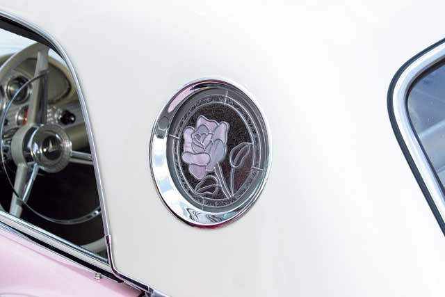 1957 Ford Thunderbird Stained Glass Portholes