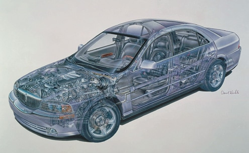 Lincoln LS Driver Side Chassis View