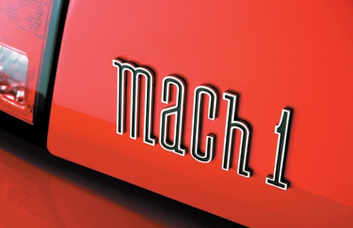 Ford Mustang Mach 1 Trunk Badge View