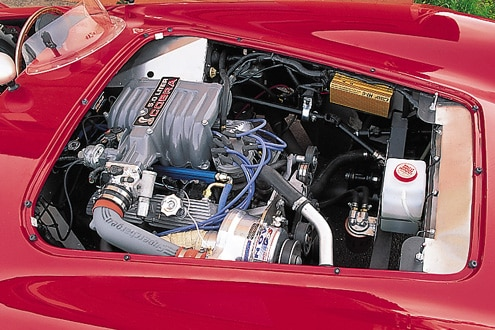 Factory Five Cobra Replica Red Engine Bay View
