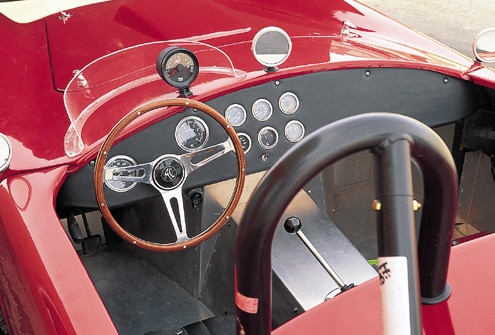 Factory Five Cobra Replica Red Cockpit View