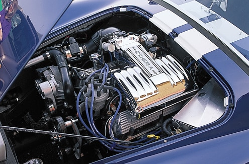 Factory Five Cobra Replica Blue Engine Bay View