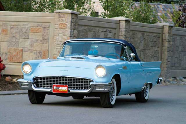 1957 Ford Thunderbird Driving
