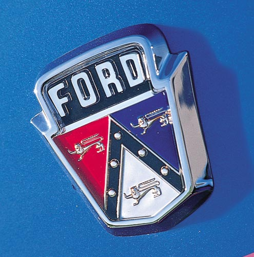 P86536 Large 1955 Ford Customline Hood Emblem
