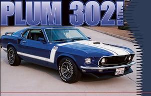 1969 Plum 302 Mustang