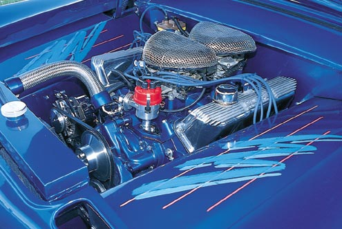 1955 Ford Customline Engine Bay