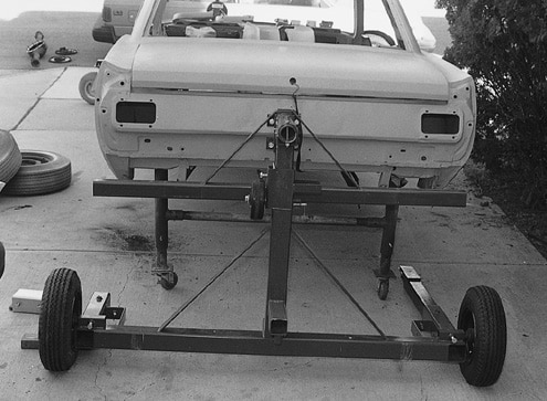 Ford Mustang Rear Stripped Body View