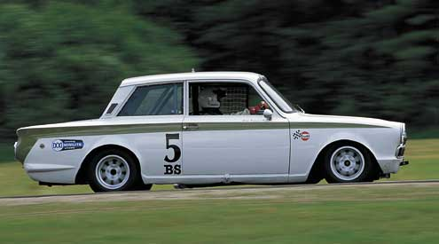 Lotus Cortina Side Driving Track