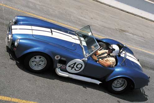 Shelby 427 Cobra Replica Top Side Parked