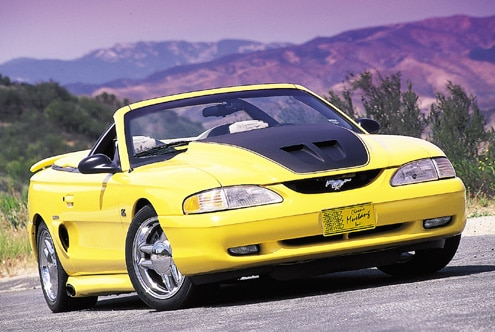 1995 Ford Mustang GT Yellow Front End