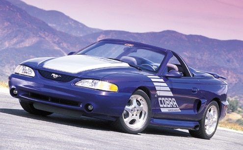 1995 Ford Mustang GT Convertible Blue Front Driver Side