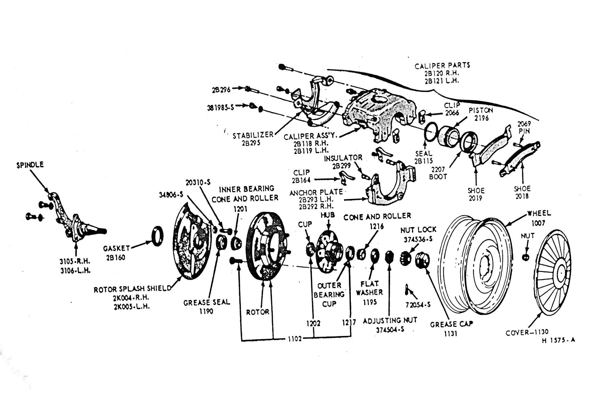 1968 Ford Mustang Disc Brakes Schmetic