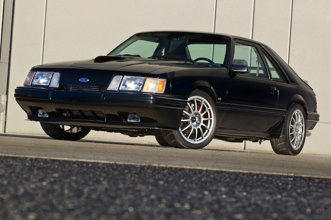 This 1986 Ford Mustang Svo S Built 2 3l Packs A V 8 Punch