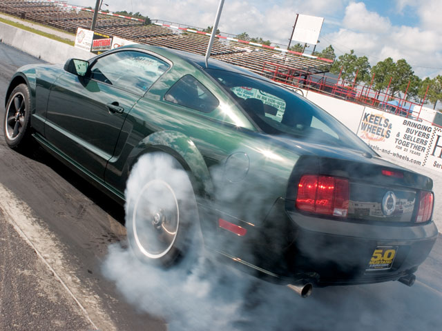 M5lp 0802 03 Z 2008 Ford Mustang Bullitt Burnout