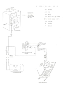 Classic Ford Mustang Heating Defrosting Diagram 02