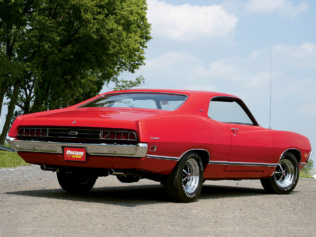 1971 Ford Torino Rear Passengers Side View