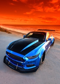 2015 Ford Mustang Blue Chrome Soto 31