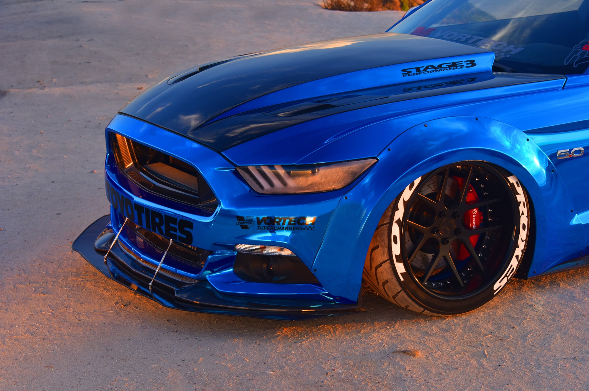 2015 Ford Mustang Blue Chrome Soto 26