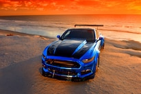 2015 Ford Mustang Blue Chrome Soto 22