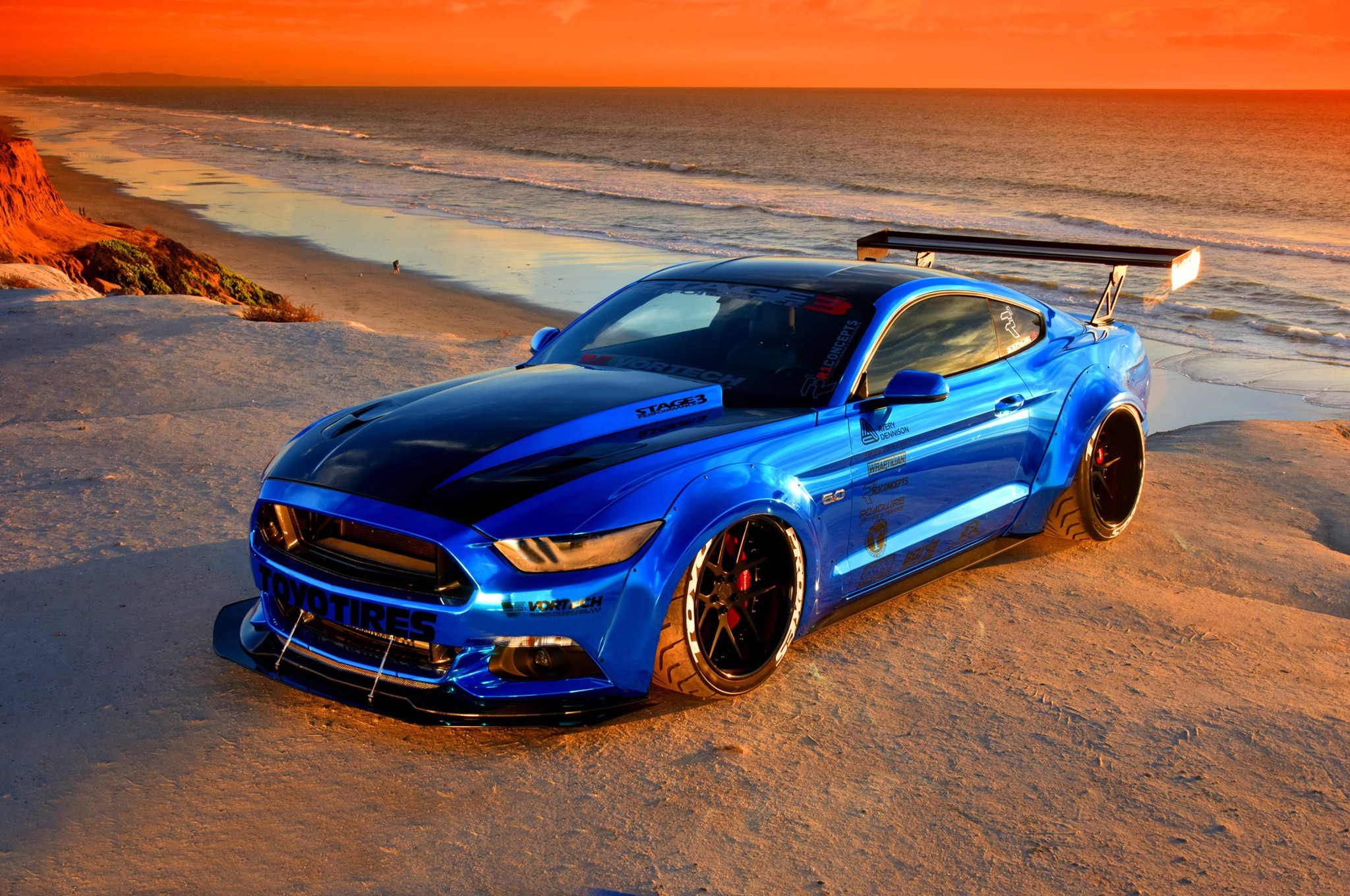 2015 Ford Mustang Blue Chrome Soto 20