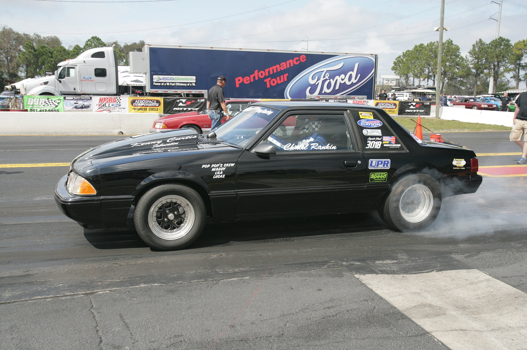2015 Nmra Mustangs Burnout Black Fox Body