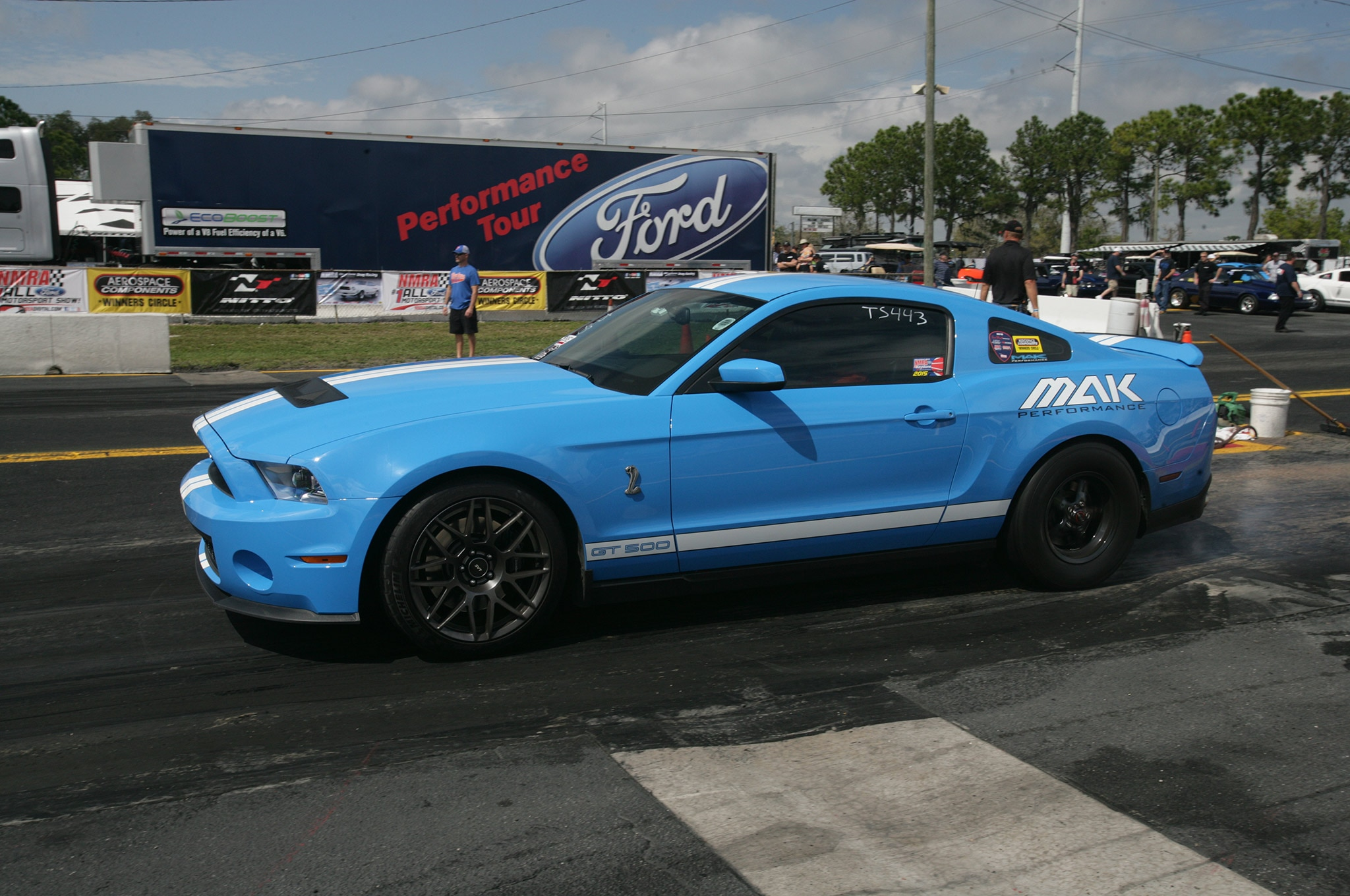 2015 Nmra Mustangs Burnout Blue