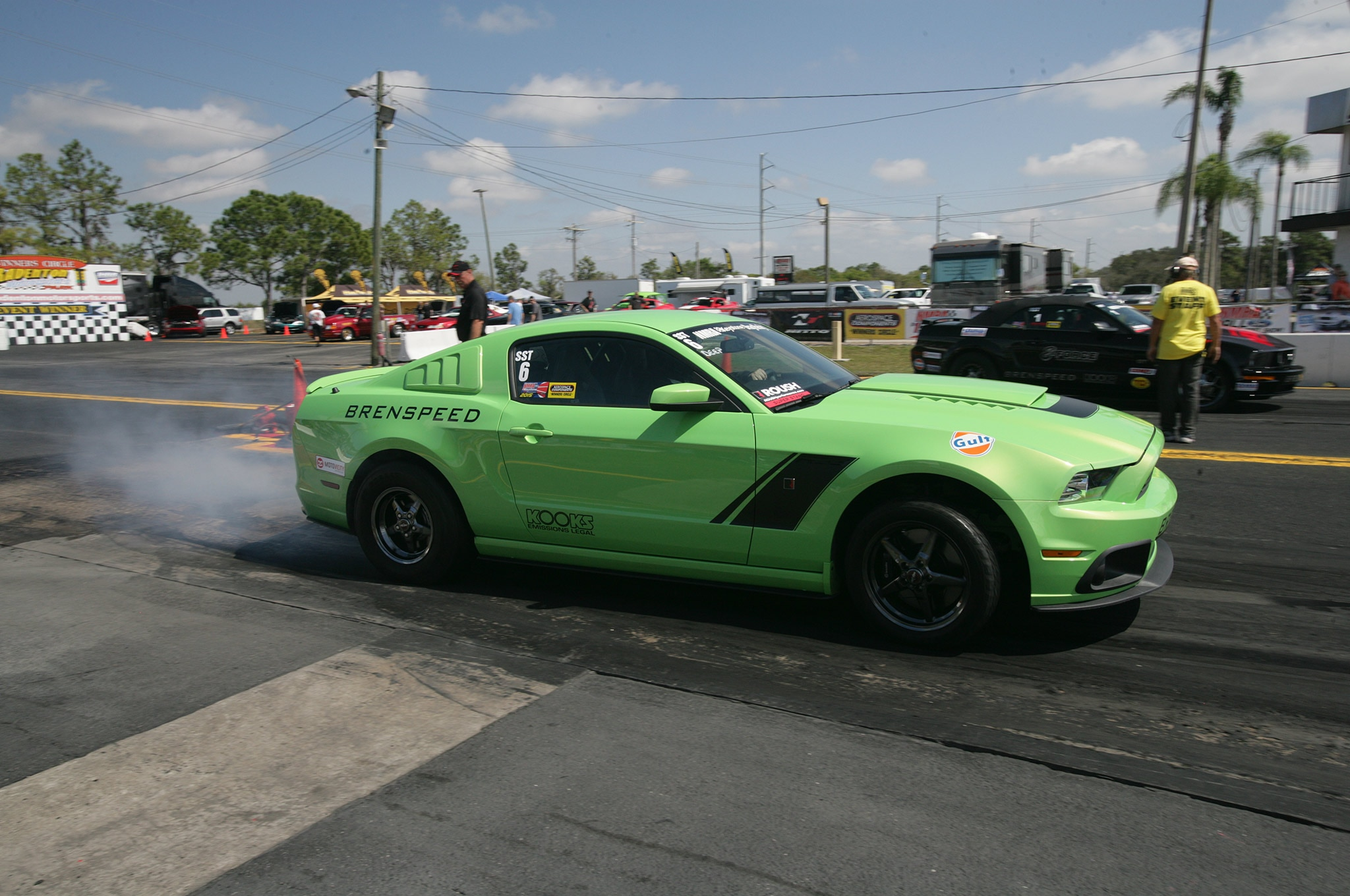 2015 Nmra Mustangs Burnout Green Black
