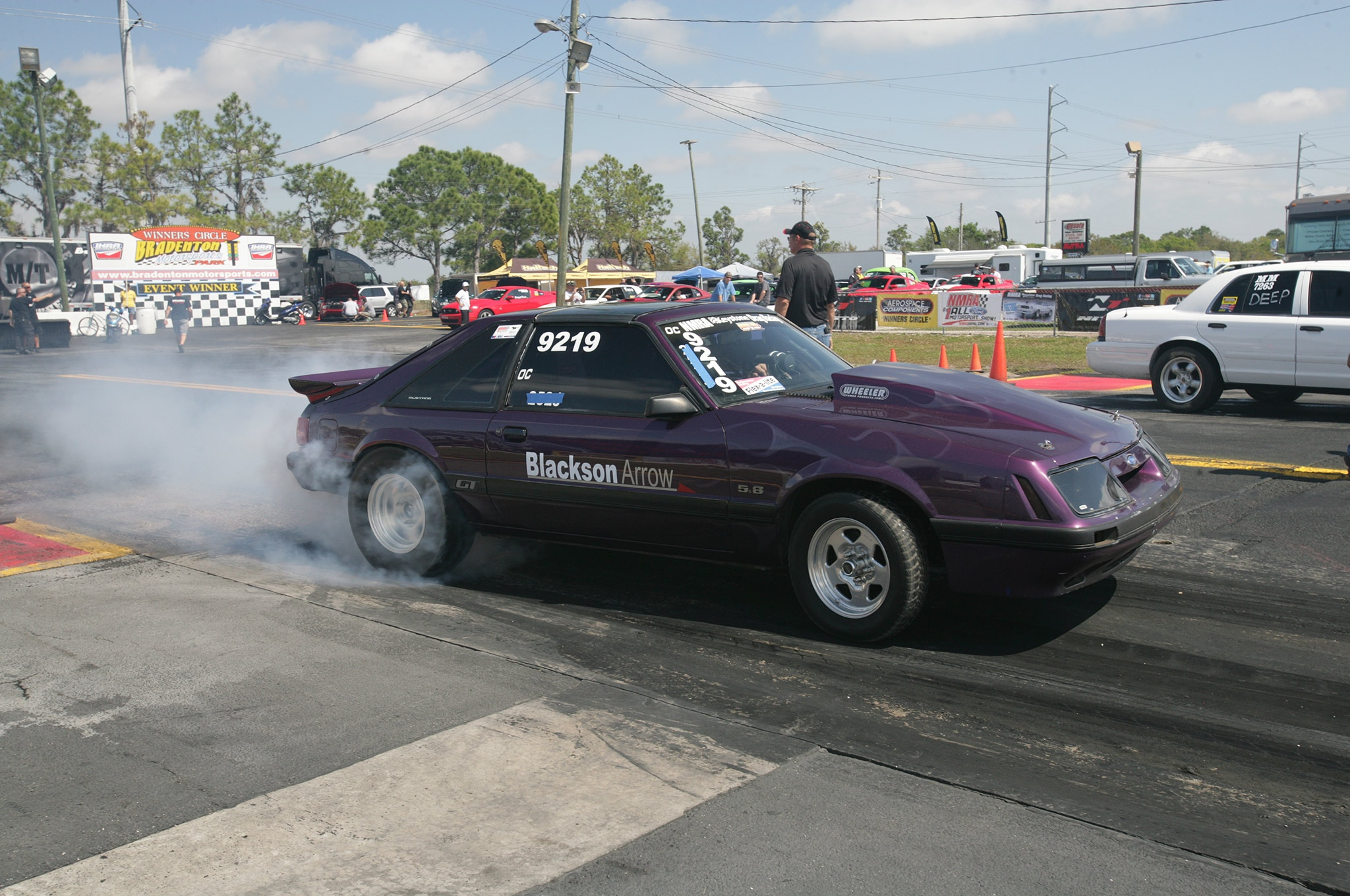 2015 Nmra Mustangs Burnout Purple Side