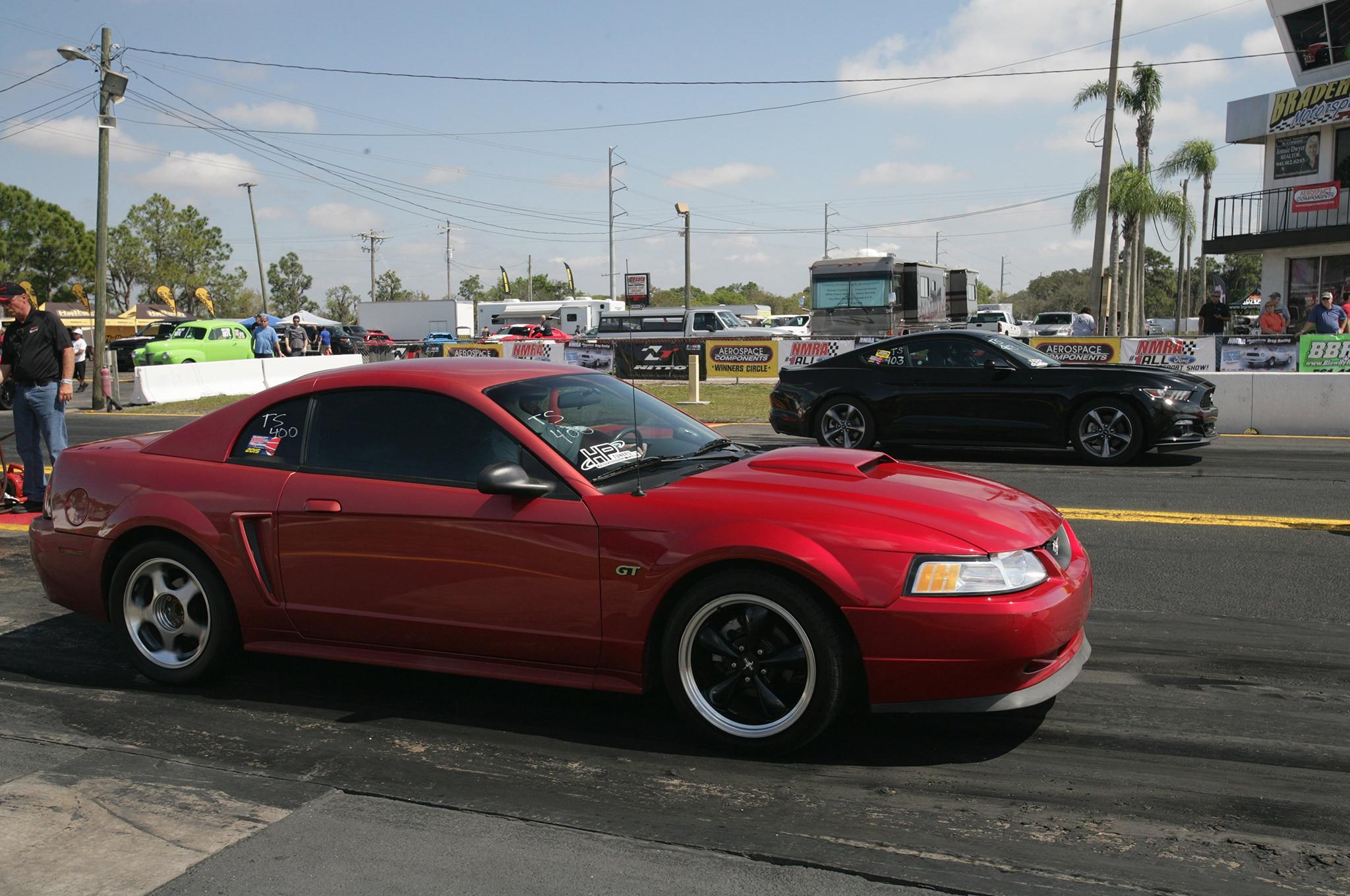2015 Nmra Mustangs Burnout Red Passenger Side