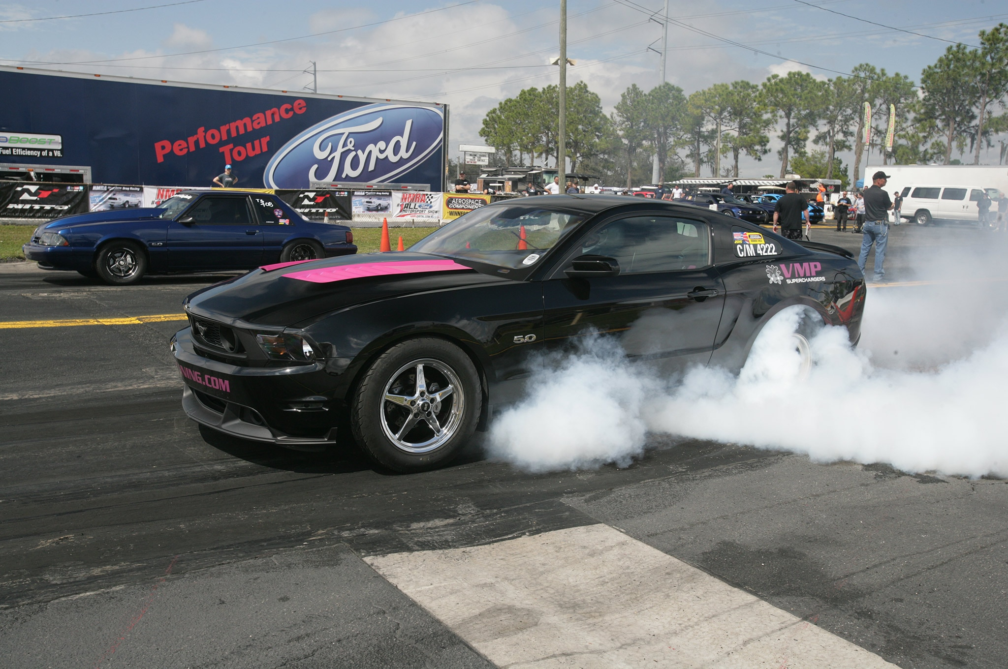 2015 Nmra Mustangs Burnout Red Black