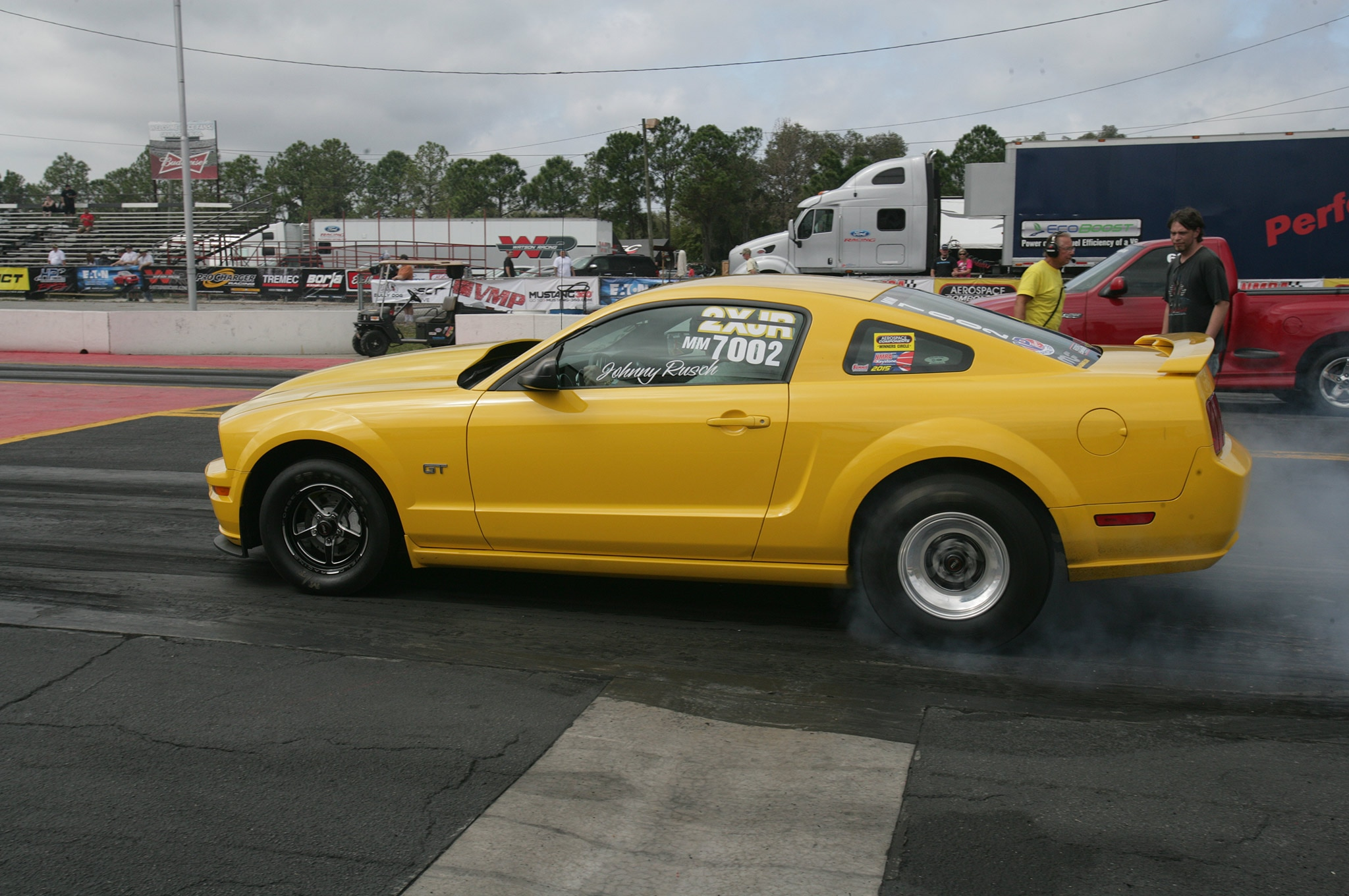 2015 Nmra Mustangs Burnout Yellow