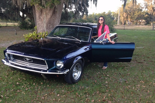 Mustang Girl Monday Brianna Waters 1968 Ford Mustang 04