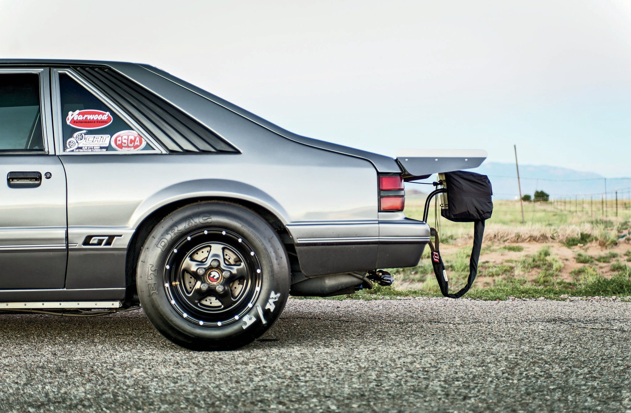 1986 Ford Mustang Gt Drivers Side View Rear