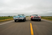 1969 Mercury Cougar And 1971 Ford Mustang Cobra Jet Driving Action