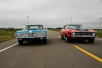 1969 Mercury Cougar And 1971 Ford Mustang Driving 3